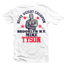 T-Shirt Mike Tyson Brooklyn Champion Boxing - Homme blanc