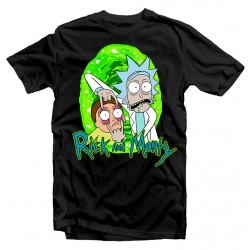 T-Shirt Rick and Morty Portal Comic - Homme noir