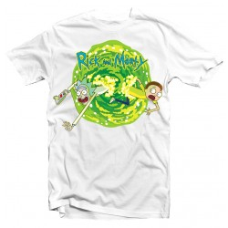 T-Shirt Rick and Morty Funny Jumping - Homme blanc