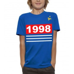 T-Shirt Enfant Foot france 1998 bleu