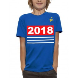 T-Shirt Enfant Foot france 2018 bleu