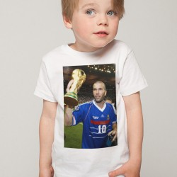 T-Shirt Enfant Fan de... Zidane Mondial de foot 1998