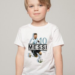 T-Shirt Enfant Argentine Messi 2018