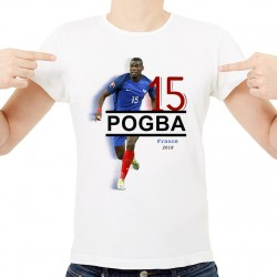 T-Shirt Homme Blanc - France Pogba 2018