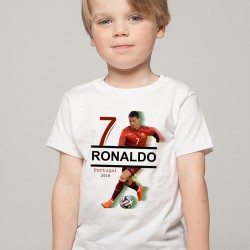 T-Shirt Enfant Portugal Ronaldo 2018