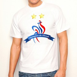 T-Shirt Champion du monde foot 2 étoiles