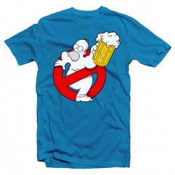 T-Shirt Homer Simpson Duff Busters Ghostbusters