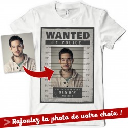 T-shirt Personnalisé WANTED photo