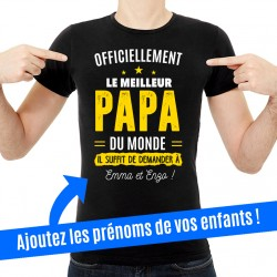 T-Shirt Officiellement le meilleur papa du monde