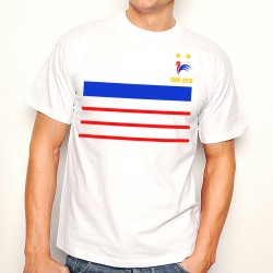 T-Shirt France 2 étoiles Mondial foot 1998 - 2018