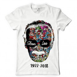 T-Shirt Stan Lee Marvel 1922-2018