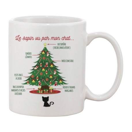 MUG Le sapin VS le chat
