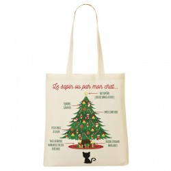 Tote Bag Le sapin VS le chat