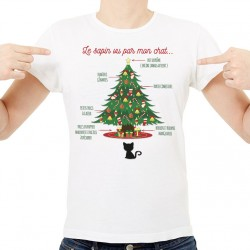 T-Shirt Le sapin VS le chat