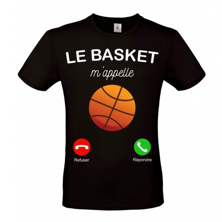 T-Shirt Le basket m'appelle