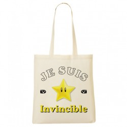 Tote Bag Je suis invincible