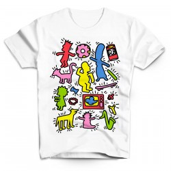 T-Shirt Keith Haring The simpson