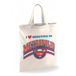 Tote Bag Superman - Shopping In Metropolis
