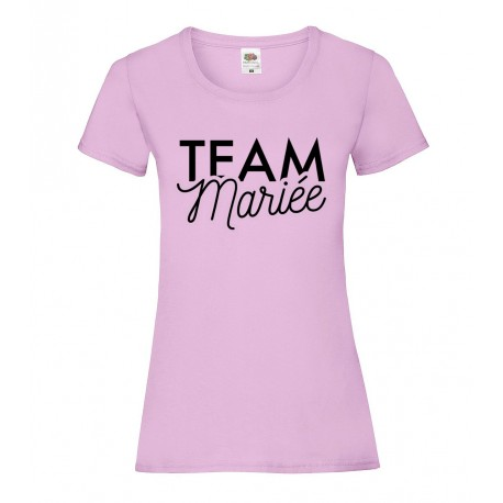 T-Shirt Team Mariée rose