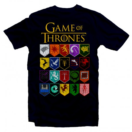T-Shirt Game of thrones Houses Logos