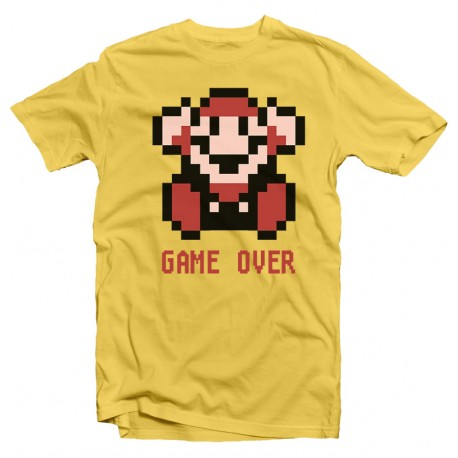T-Shirt Nintendo Mario Bros Game Over Pixel