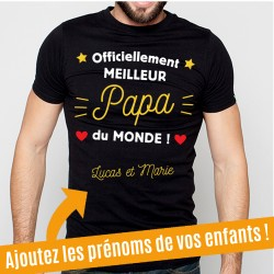 T-Shirt Officiellement meilleur Papa du Monde