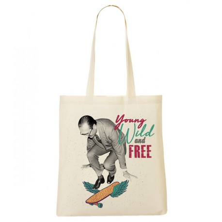 Tote Bag Chirac : Young wild and free