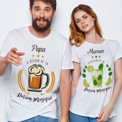 T-shirt BOX DUO Maman et Papa potion magique