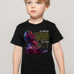 T-Shirt enfant 43 Years of Star Wars 1977-2020