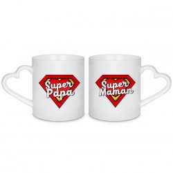 MUG BOX DUO Super Maman et Super Papa