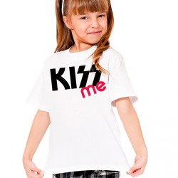 T-Shirt Enfant Kiss me (fille)