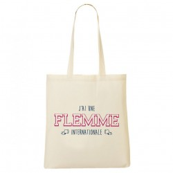 Tote Bag J'ai une flemme internationale