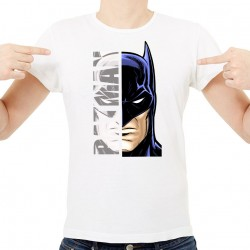T-Shirt Homme Blanc Super-héros Batman