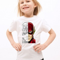 T-Shirt Enfant Blanc Super-héros Flash