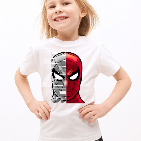 T-Shirt Enfant Blanc Super-héros Spiderman