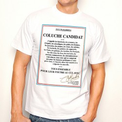 T-Shirt Coluche Candidat - Homme