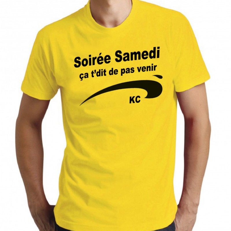 t shirt homme brice de nice soir e samedi a t dit de pas. Black Bedroom Furniture Sets. Home Design Ideas