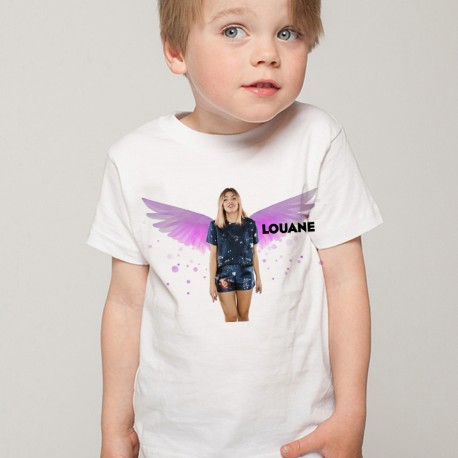 T-Shirt Enfant Fan de... Louane Ange