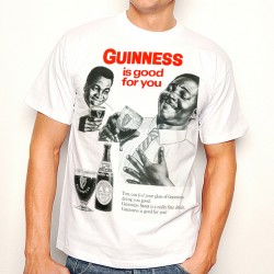 T-Shirt Homme Blanc Guinness is good for you