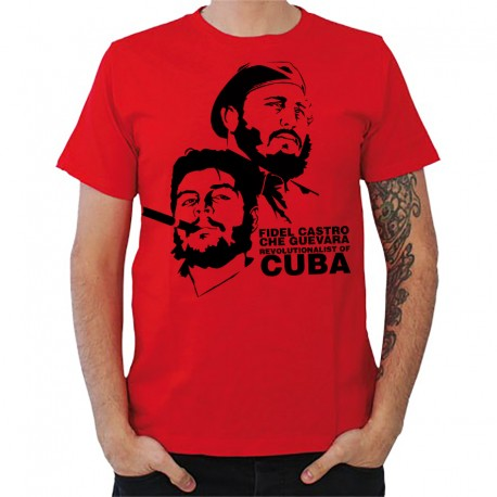 t shirt homme rouge fidel castro and che guevara. Black Bedroom Furniture Sets. Home Design Ideas