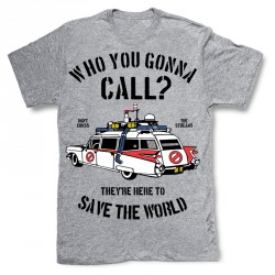 T-Shirt Ghostbuster Who You Gonna Call - Homme gris