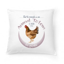Coussin ANIMAL TOTEM Poule