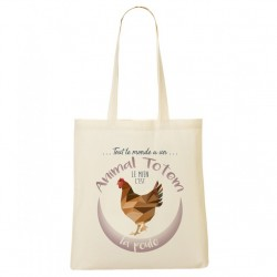 Tote Bag ANIMAL TOTEM Poule
