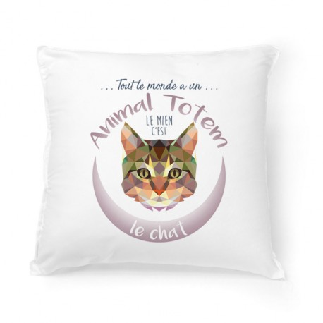 Coussin ANIMAL TOTEM Chat