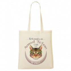 Tote Bag ANIMAL TOTEM Chat