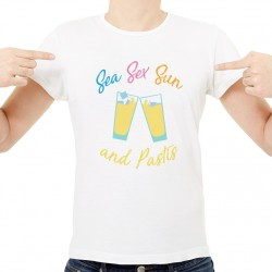 T-Shirt Homme Blanc Sea Sex Sun ... and Pastis
