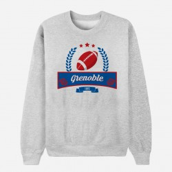 Sweat Adulte Gris Club de Rugby - Grenoble