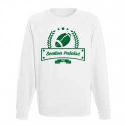 Sweat adulte blanc Club de Rugby - Section Paloise