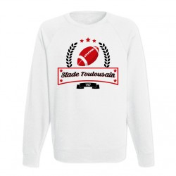 Sweat adulte blanc Club de Rugby - Toulouse