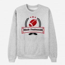 Sweat Adulte Gris Club de Rugby - Toulouse